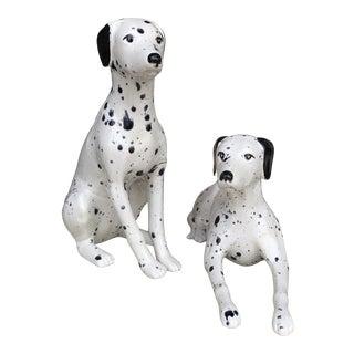 Vintage Porcelain Dalmatians Figurines- a Pair For Sale