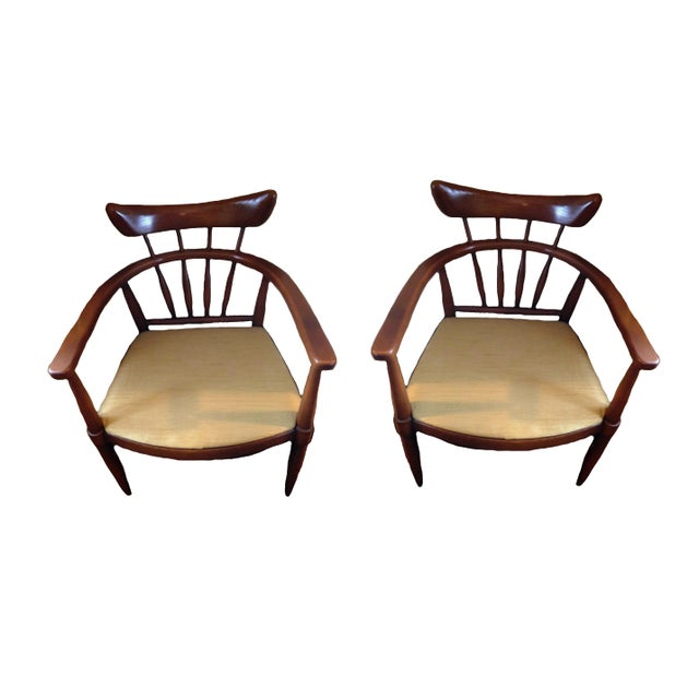 Handcrafted American Ash Captain Chairs - a Pair For Sale - Image 4 of 4