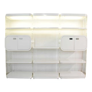 1970s White Lacquer Bookcases or Storage Unit After Pace Collection or Milo Baughman For Sale