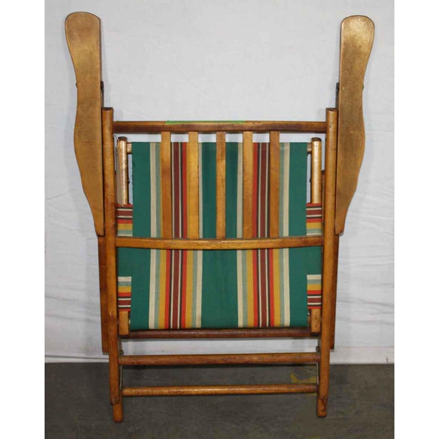 Wooden Folding Beach Chair - Image 4 of 5