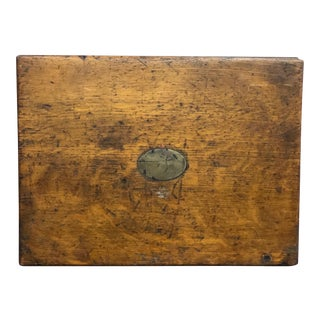 20th Century Campaign Oak Letter Box For Sale