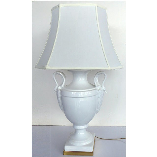 Paul Hanson Table Lamp With Swan Handles For Sale - Image 11 of 11