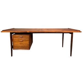 1960s Mid Century Modern Arne Vodder for Sibast Rosewood Tanker Desk For Sale