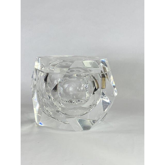 Transitional Vintage Geometric Shapes Lucite Covered Box For Sale - Image 3 of 5