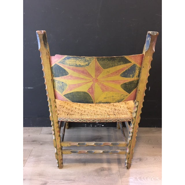 Antique Italian Carved Wood Chair 19th Century For Sale - Image 4 of 9