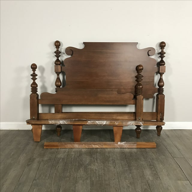 Ethan Allen Traditional Queen Size Bed Frame - Image 6 of 8