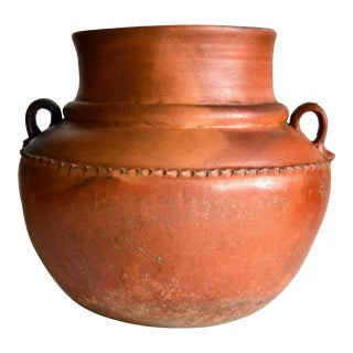 Guatemalan Terracotta Florero Pot 1940s For Sale