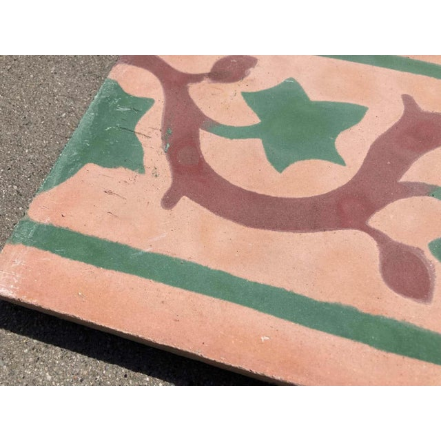 Mid 20th Century Moroccan Encaustic Cement Tile Sample For Sale - Image 5 of 9