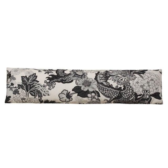 2020s Long Lumbar Pillow in Scalamandré Chiang Mai Dragon 100% Linen For Sale - Image 5 of 5