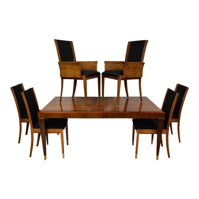 Mahogany Henredon Dining Table & Chairs - Image 1 of 11
