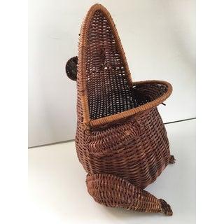 Large-Vintage Natural Wicker Frog Basket Preview