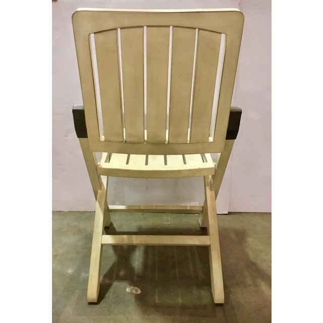 2010s Transitional Cream Folding Style Set of Four Chairs For Sale - Image 5 of 6
