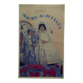 1977 Vintage Official Ringling Brothers Circus Wedding Portrait Poster For Sale