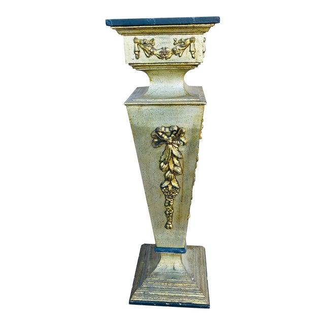 1960s Vintage Wooden Pedestal For Sale