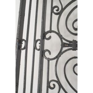 American Victorian style (19/20th Cent) iron gates with filigree scroll design and lattice base (PRICED EACH) (similar to...