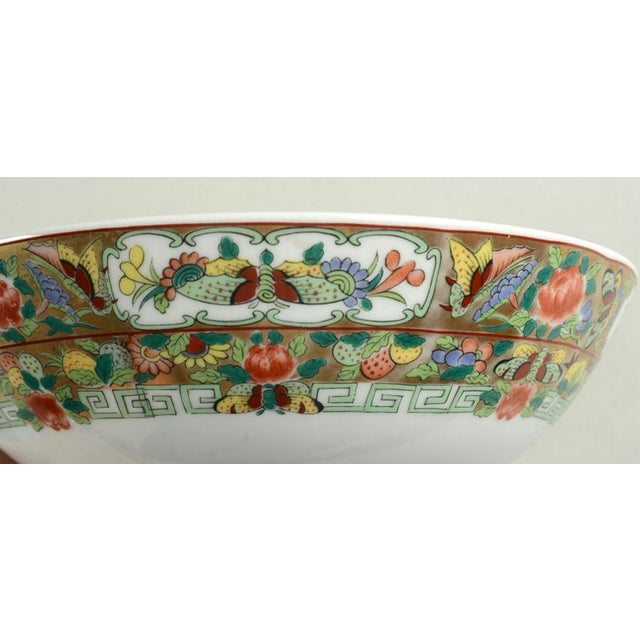 1970s 1970s Hong Horizons Canton Rose Individual Bowl - Set of 8 For Sale - Image 5 of 8
