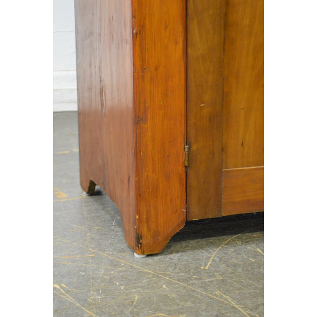 Primitive Antique 19th Century Country Poplar Dry Sink Cupboard For Sale - Image 3 of 13