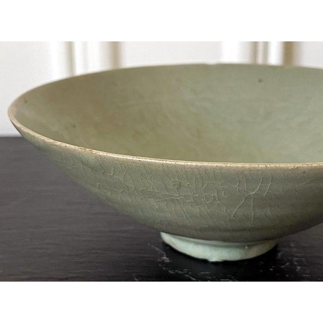 Asian Celadon Ceramic Tea Bowl Korean Goryeo Dynasty For Sale - Image 3 of 13