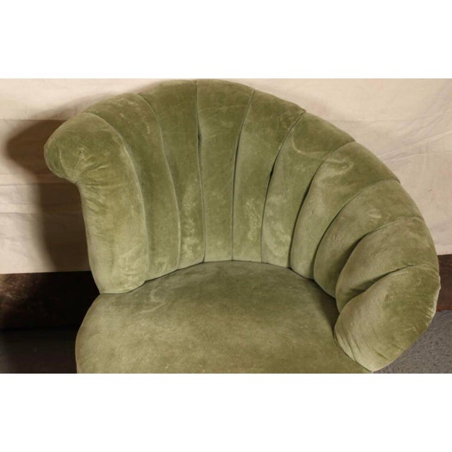 Hollywood Regency Antique Hollywood Regency Velvet Club Chairs - a Pair For Sale - Image 3 of 7