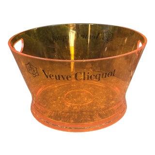 Veuve Clicquot Vintage Orange Acrylic Champagne Chiller Ice Bucket For Sale