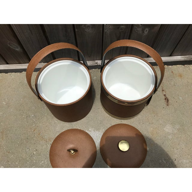Mid-Century Modern 1960s Mid-Century Modern George Briard Ice Buckets - A Pair For Sale - Image 3 of 6