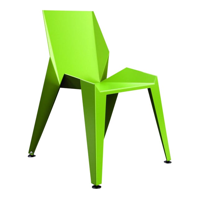 Origami Inspired Edge Green Chair | Indoor & Outdoor Chair For Sale
