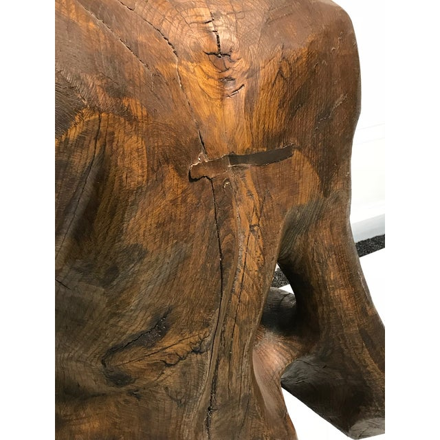 Dramatic Sycamore Wood Sculpture of a Man's Figure For Sale In Philadelphia - Image 6 of 8