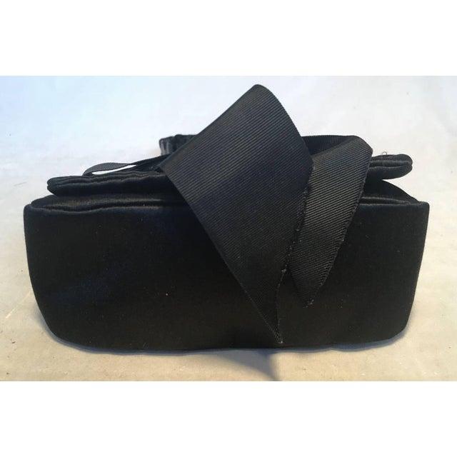 673f7cce353d Yves Saint Laurent Yves Saint Laurent Ysl Black Silk Satin Ribbon Bow  Evening Bag For Sale