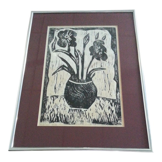 Vintage Artist Proof Wood Block Print - Image 1 of 5