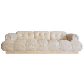 1970's Italian Modern Style Large Sofa For Sale