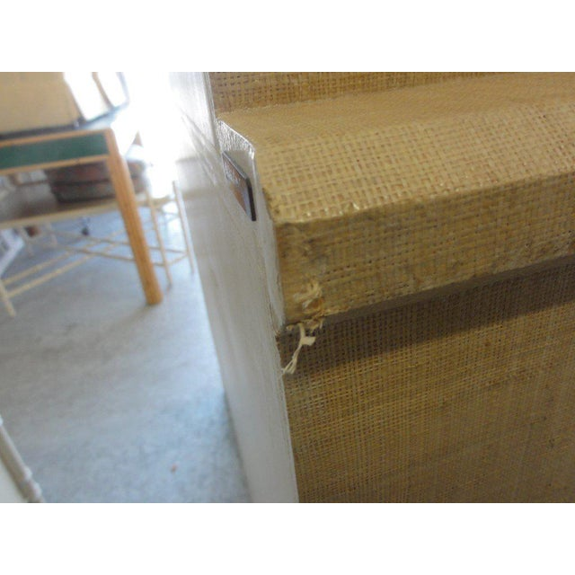 Vintage Linen Wrapped Cabinet - Image 8 of 11