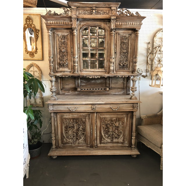 19th C. French Henri II Renaissance Revival Buffet & Hutch For Sale - Image 13 of 13