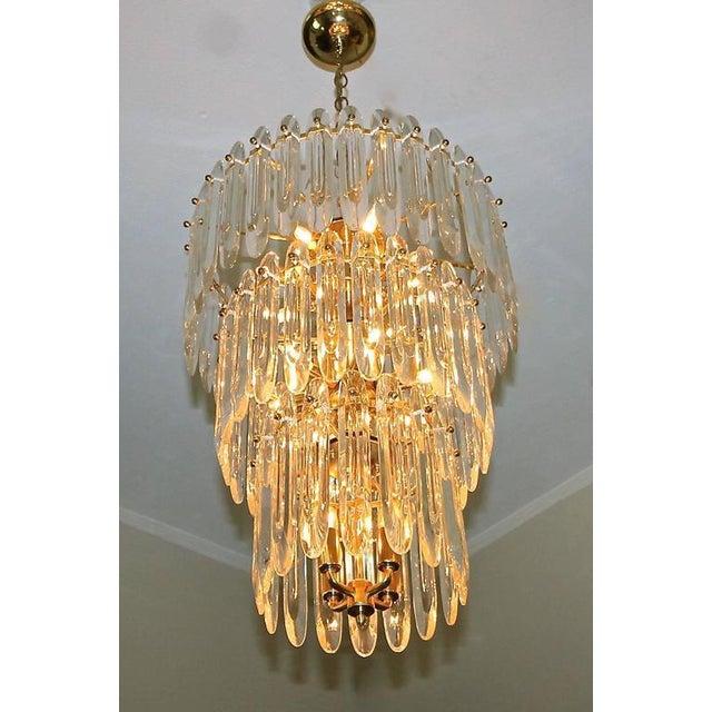 1960s Large Three-Tier Gaetano Sciolari Italian Crystal Chandelier For Sale - Image 5 of 11