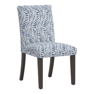 Dining Chair in Snake Skin Blue For Sale
