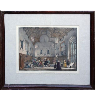 Hall at Athelhampton, Dorsetshire by Joseph Nash, 1840 For Sale