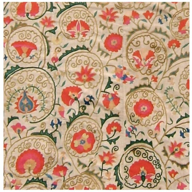 Suzani Embroidered Textile For Sale - Image 4 of 4