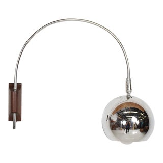 Mid-Century Modern Chrome Wall Sconce Attr Robert Sonneman For Sale