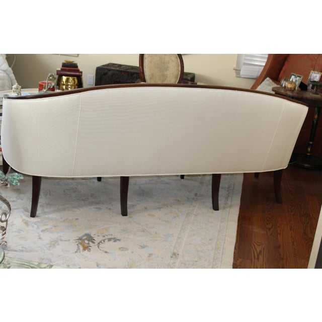 Henredon Baltimore Rounded Back Cream Silk Sofa - Image 4 of 5