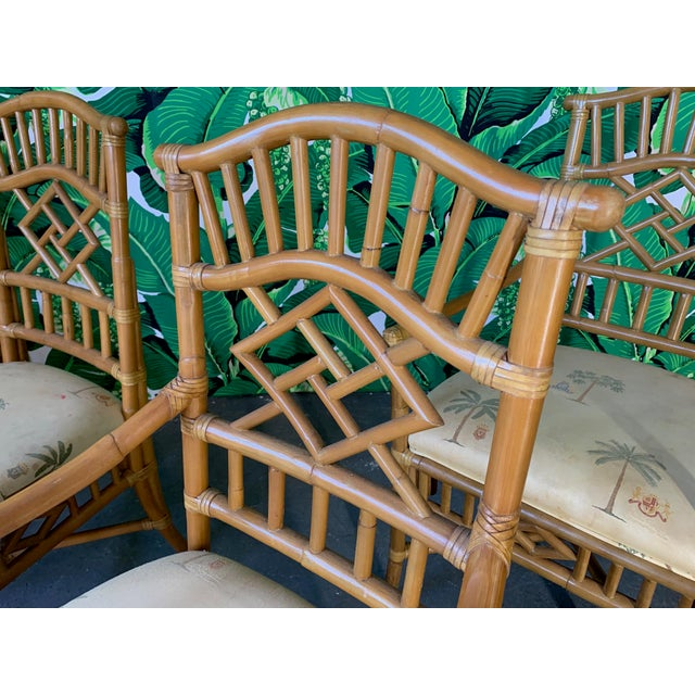 Vintage Rattan Dining Set Table and Four Chairs For Sale - Image 6 of 10