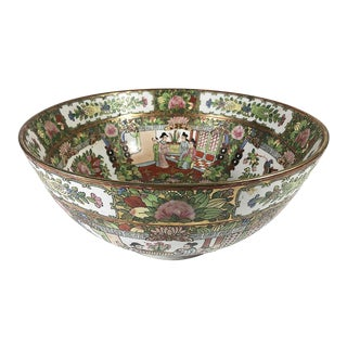 Vintage Chinese Famille Verte Bowl For Sale