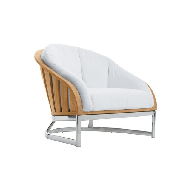 Summit Furniture Picket Lounge Chair-ss Base For Sale - Image 4 of 4