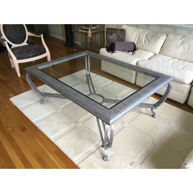 Metal Finish Glass Cocktail Table - Image 8 of 8