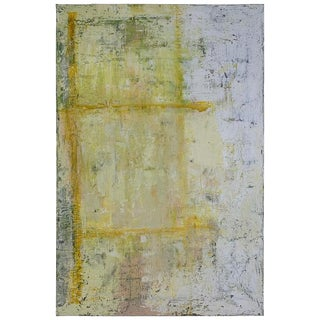 2019 Yellow Square Robin Phillips Plaster Acrylics and Dye on Canvas Painting For Sale