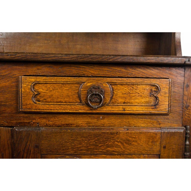 20th Century French Country Walnut Kitchen Hutch For Sale In Atlanta - Image 6 of 13