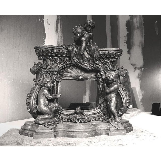 French Baroque Style Modern Mantel For Sale - Image 9 of 10
