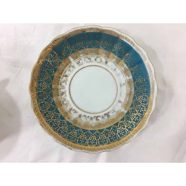 Nautical Cappodimonte Porcelain Coffee Cup and Saucer For Sale - Image 3 of 8
