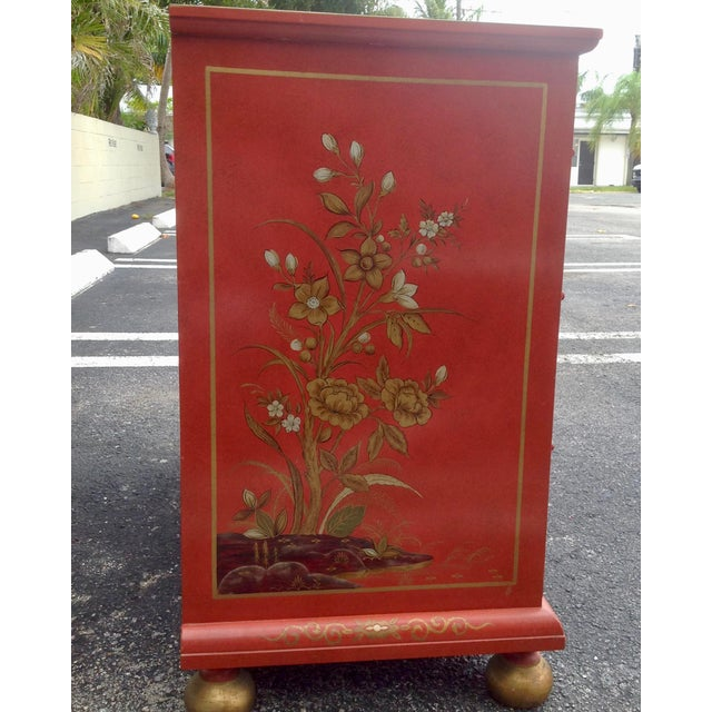 Metal Chinoiserie Chest by Baker For Sale - Image 7 of 13