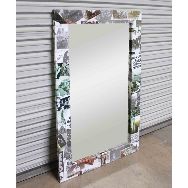 Contemporary Photo Collage Flat Frame Mirror For Sale - Image 3 of 4