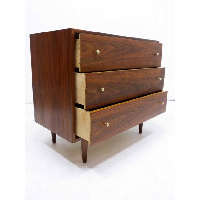 Walnut Three-Drawer Bachelor Dresser Chest - Image 5 of 10