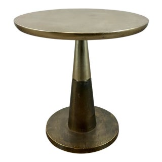 Arteriors Modern Bronze and Brass Metal Rochester Side Table For Sale